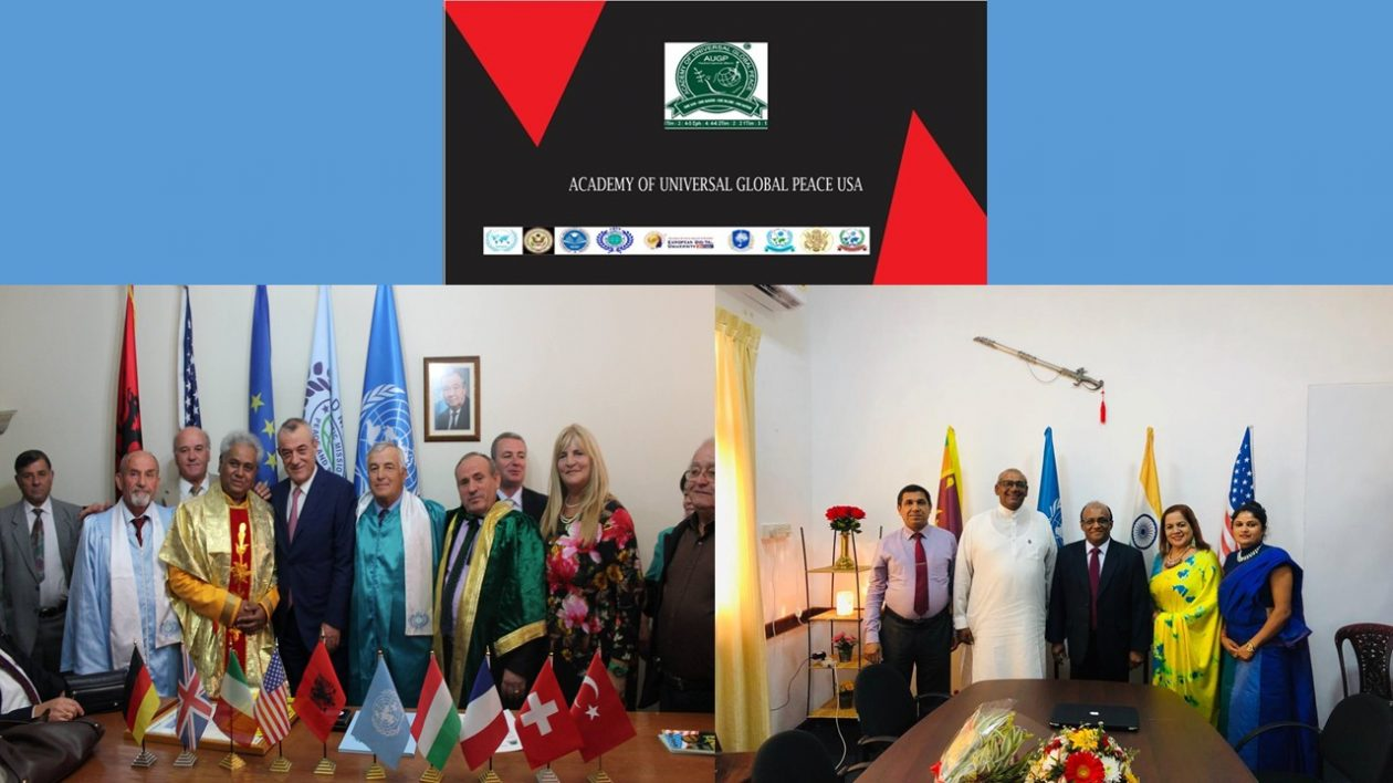 Academy of Universal Global Peace USA- and AUGP USA Sri Lanka Official Website